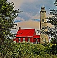 Daniel Thompson - Tawas Point Light Retro...