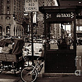 Miriam Danar - Taxi Stand with Pedicab...