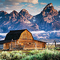 Kirk Strickland - Tetons Loom Over Barn