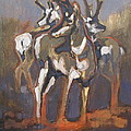 Peggy Judy - Three Antelope