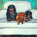 Lauren Hammack - Three Dachshunds On...