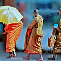 Ted Guhl - Three Monks Walking