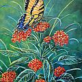 Gail Butler - Tiger and Lantana