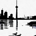 Mario Carini - Toronto Skyline in Black