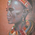 Persian Art - Traditional African Lady...