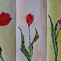 Sonali Gangane - Trio of  Red Tulips