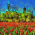Mario Carini - Tulips Van Gogh on...