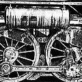 Joseph J Stevens - Two Train Wheels BW