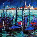MONA EDULESCO - Emona Art - Venice Gondolas And San...