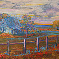 Kathy Peltomaa Lewis - View Of The Old Farmhouse