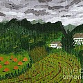 Vicki Maheu - Vineyard and Haystacks...