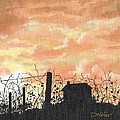 David Wolfer - Vineyard in Silhouette