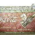 Ann Powell - Vintage Cola Sign Mural...