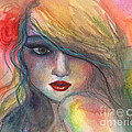 Svetlana Novikova - Watercolor girl portrait...