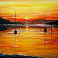 Andrew Read - Watery Sunset at Bala...