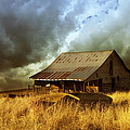 Ann Powell - Weathered Barn  Stormy...