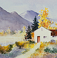 Teresa Ascone - White Fence in Autumn