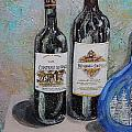 Jeannette Cruz - Wine Bottles on Shelf