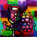 Genevieve Esson - Wine Glass With Grapes...