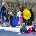 Susan Savad - Winter - Sledding in the...