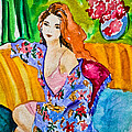Colleen Kammerer - Woman in Silk Kimono