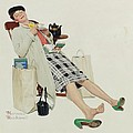 Nomad Art And  Design - Woman Relaxing with Tea...