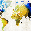 Sharon Cummings - World Map 16 - Yellow...
