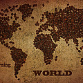 Eti Reid - World map coffee beans...