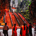 David Hill - Worshipers at Batu Caves...