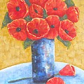 MaryAnn Ceballos - A Vase of Poppies