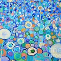 Ana Maria Edulescu - Abstract Flowers Field