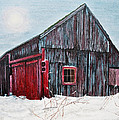 Stuart B Yaeger - Barn In Snow Southbury Ct