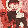 Lisa Kramer - Batik -Girl w Bear-
