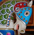 Patty Vicknair - Carousel Horse Blue