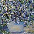 Barbara Pirkle - Delphiniums in Blue