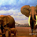 Jerry L Barrett - Desert Elephants