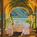 Charlotte Blanchard - Dining on Lake Como