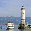 Matthias Hauser - Lindau harbor with ship...