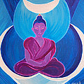 First Star Art  - Moon Buddha by jrr