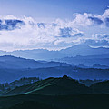 Laszlo Rekasi - Mount Diablo in Blue Mood