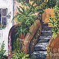 Judy Via-Wolff - Painting    Siesta Steps