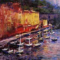 R W Goetting - Portofino at sundown
