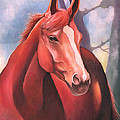 Catherine Twomey - Red Chestnut Horse in...