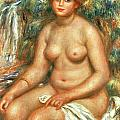 Pierre Auguste Renoir - Seated Bather