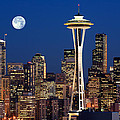 Inge Johnsson - Seattle at Full Moon