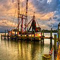 Debra and Dave Vanderlaan - Shrimp Boat at Sunset