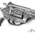 John Harding - Smith and Wesson drawing
