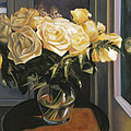 Mary Gingrich - Yellow Roses in a Glass...