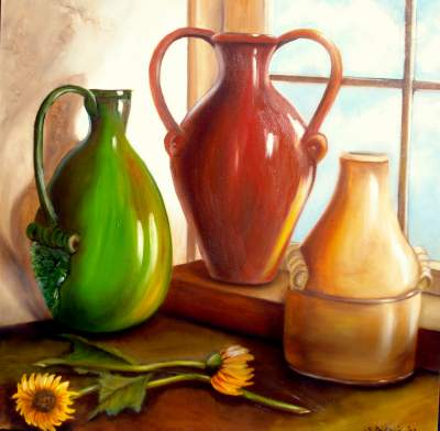 Still Life with Pottery Vases and Urns