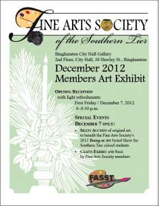 Fine Arts Society December Exhibit Opening